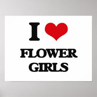 Amo a floristas póster