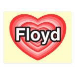 Amo a Floyd. Te amo Floyd. Corazón Tarjetas Postales