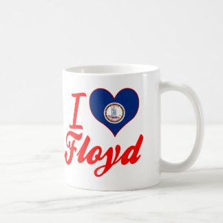 Amo a Floyd, Virginia Taza Básica Blanca