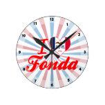 Amo a Fonda, Iowa Reloj De Pared