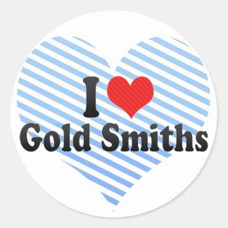Amo a forjadores del oro pegatina redonda