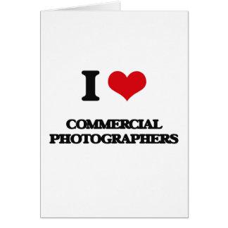 Amo a fotógrafos comerciales felicitación