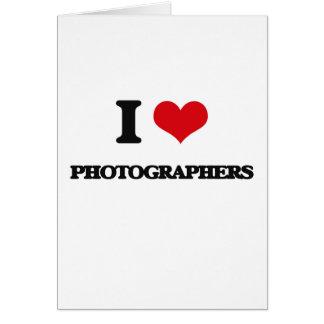 Amo a fotógrafos felicitaciones