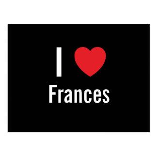 Amo a Frances Tarjetas Postales