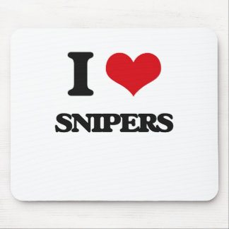 Amo a francotiradores alfombrilla de raton