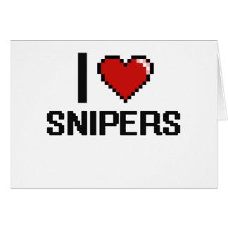 Amo a francotiradores tarjeta pequeña