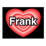 Amo a Frank. Te amo Frank. Corazón Postal