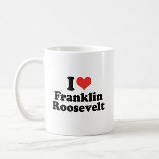 AMO A FRANKLIN ROOSEVELT - .PNG TAZA DE CAFÉ