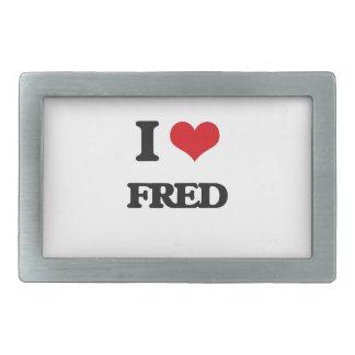 Amo a Fred Hebilla De Cinturón Rectangular