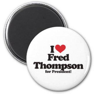 Amo a Fred Thompson para el presidente Imán Redondo 5 Cm