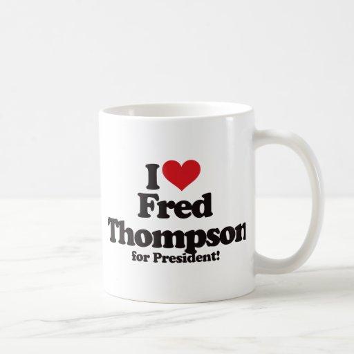 Amo a Fred Thompson para el presidente Tazas De Café