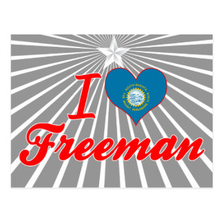 Amo a Freeman Dakota del Sur Tarjetas Postales