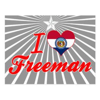 Amo a Freeman Missouri Tarjeta Postal