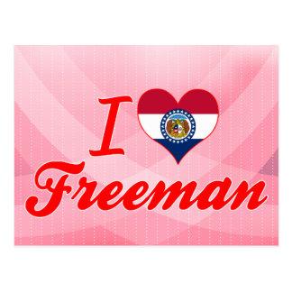 Amo a Freeman Missouri Tarjetas Postales