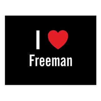 Amo a Freeman Tarjetas Postales