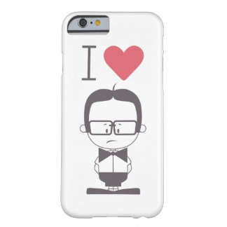 Amo a frikis funda para iPhone 6 barely there