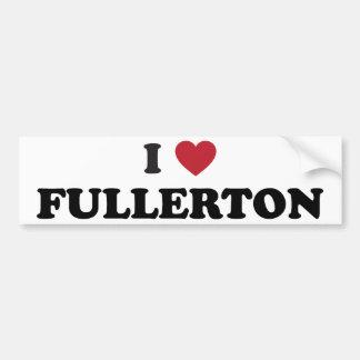 Amo a Fullerton California Pegatina Para Auto
