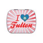 Amo a Fulton, Dakota del Sur Frascos De Caramelos
