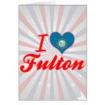 Amo a Fulton, Dakota del Sur Tarjetas