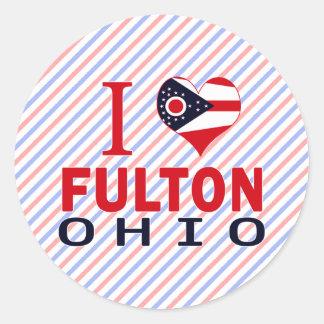 Amo a Fulton Ohio Pegatinas