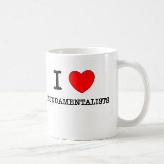 Amo a fundamentalistas tazas de café