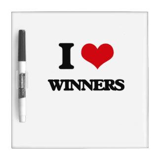 Amo a ganadores pizarras blancas de calidad