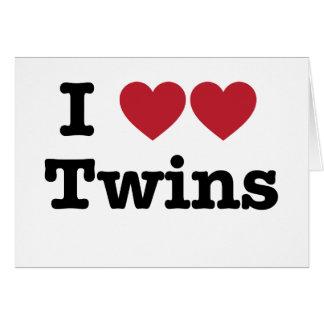 Amo a gemelos felicitaciones