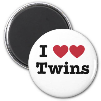 Amo a gemelos imán para frigorifico
