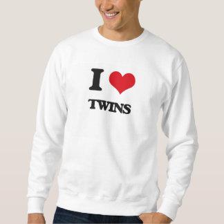 Amo a gemelos sudadera