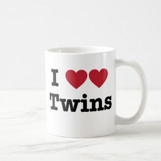 Amo a gemelos taza