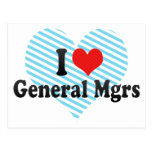 Amo a general Mgrs Tarjetas Postales