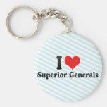 Amo a generales superiores llavero personalizado