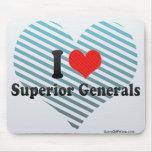 Amo a generales superiores tapete de ratón