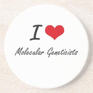 Amo a genetistas moleculares posavasos para bebidas