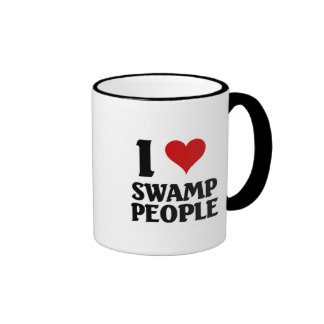 Amo a gente del pantano taza a dos colores