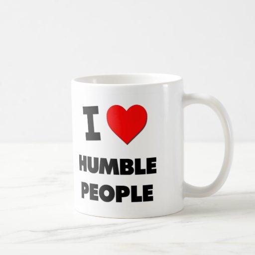Amo a gente humilde taza básica blanca