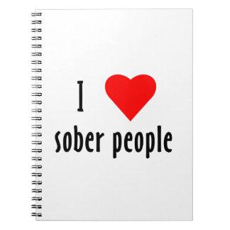Amo a gente sobria spiral notebook