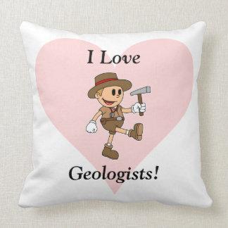 ¡Amo a geólogos! Cojín