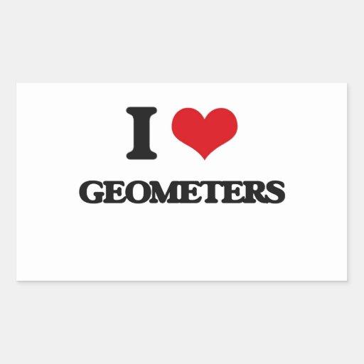 Amo a geómetras rectangular altavoces