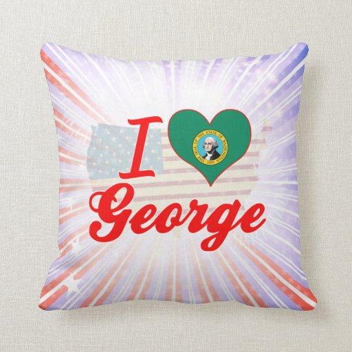 Amo a George, Washington Cojines