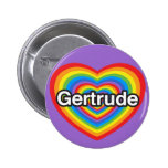 Amo a Gertrudis. Te amo Gertrudis. Corazón Pins
