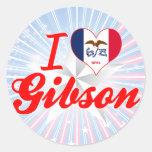 Amo a Gibson, Iowa Etiquetas Redondas