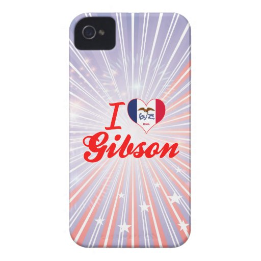 Amo a Gibson, Iowa iPhone 4 Case-Mate Protector