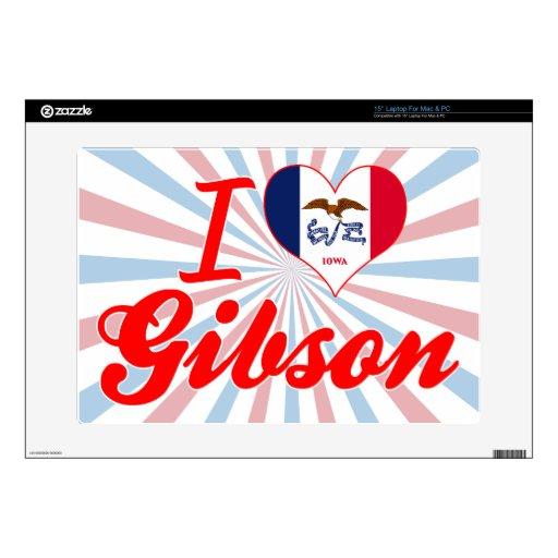 Amo a Gibson, Iowa Skins Para 38,1cm Portátiles