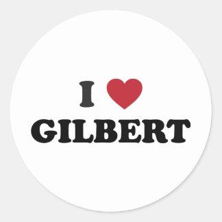 Amo a Gilbert Arizona Pegatina Redonda