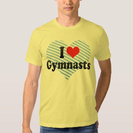 Amo a gimnastas camisas