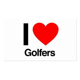 amo a golfistas plantillas de tarjetas personales