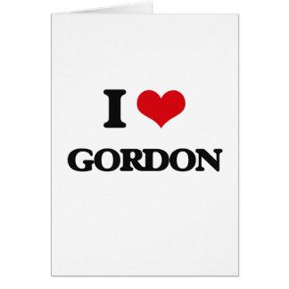 Amo a Gordon Tarjeta De Felicitación