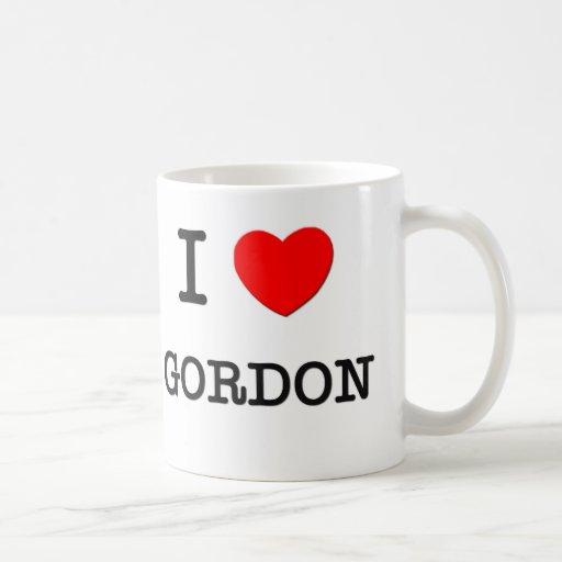 Amo a Gordon Taza Básica Blanca