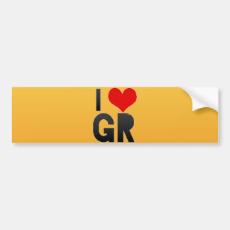 Amo a GR Etiqueta De Parachoque